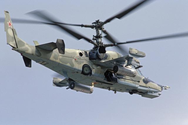 Ка-50 «Чёрная акула» — одноместный ударный вертолет